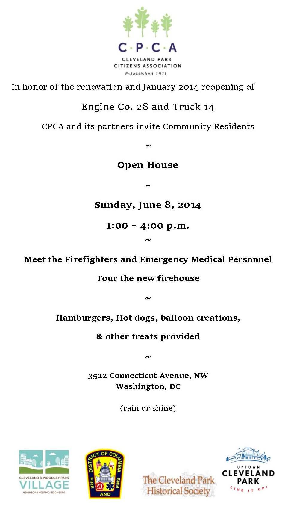 Engine Co. 28 Open House Invite