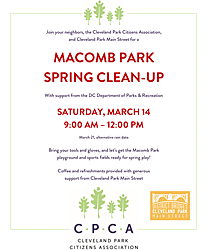 Macomb Park Spring Clean Up